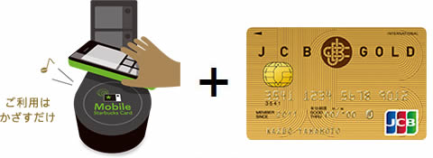 Mobile Starbucks Card+JCB オリジナルシリーズ