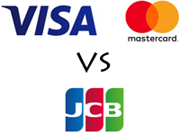 VISA/Master Card vs JCBカード